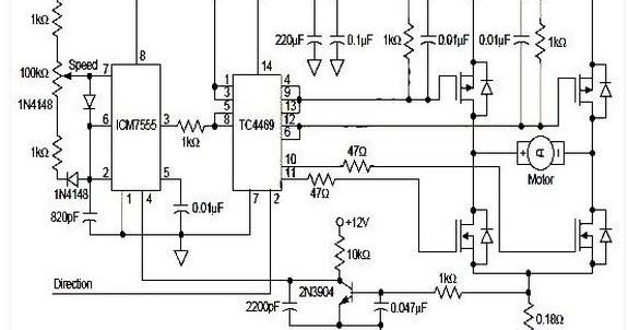 h bridge circuit for dc motor