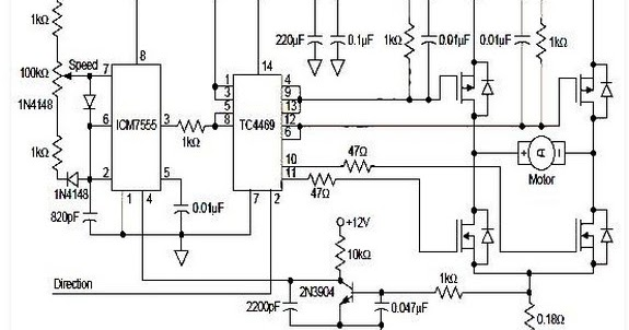 Circuit Schematic Dc Motor Driver Pwm H Bridge Using