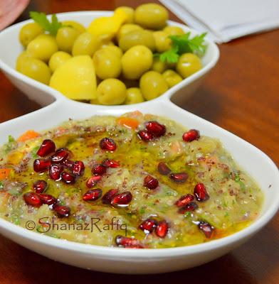 Babaganosh ~ Eggplant arabic style dip