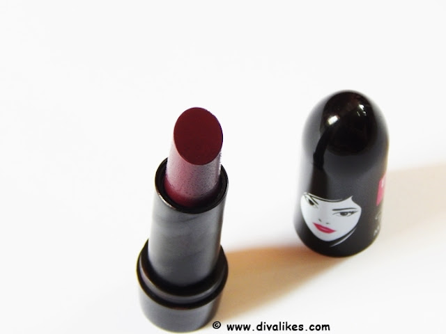 Elle 18 Color Pops Matte Lipstick Cherry Wine Review