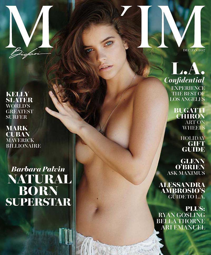 Barbara Palvin en couverture de Maxim Décembre 2016 et Janvier 2017