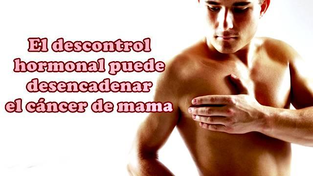 La parte hormonal también puede desarrollar cáncer de mama en hombres