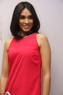 Spatika Surapaneni in Red Tight Dress at FBB Miss India 2017 finalists at Telangana auditions Feb 2017 (34).JPG