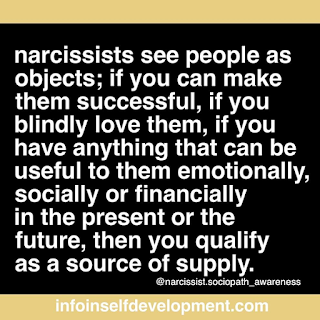 Narcissists see people as objects
