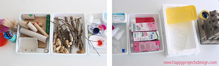 barquitos diy: materiales