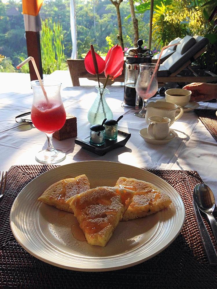Euriental   travel and fashion   Villa Shamballa breakfast, Ubud, Bali