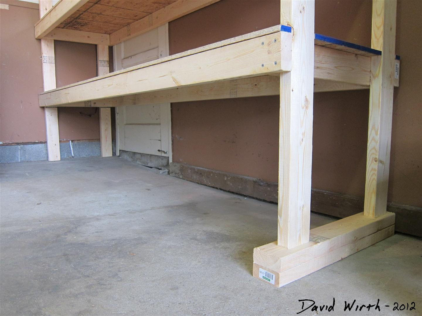 2x4 garage hanging shelving ideas - 2x4 Garage Shelf Plans PDF Woodworking