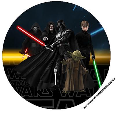 Toppers o Etiquetas de Star Wars para Imprimir Gratis.