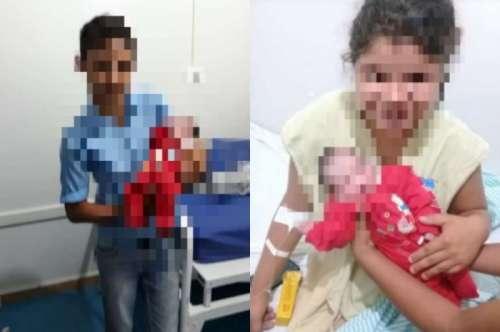 Menina de 12 anos engravida e dá à luz a um bebê, o pai também tem 12 anos