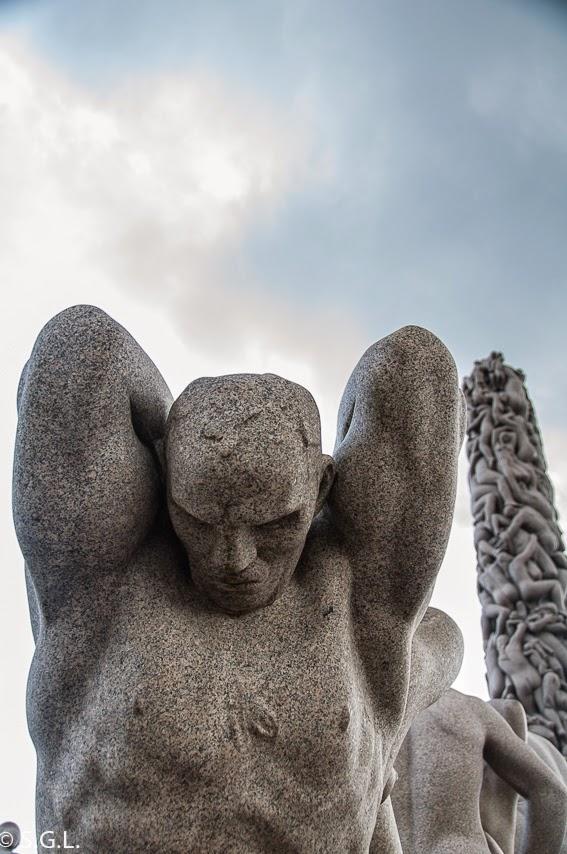 El parque de las esculturas de Vigelan en Oslo