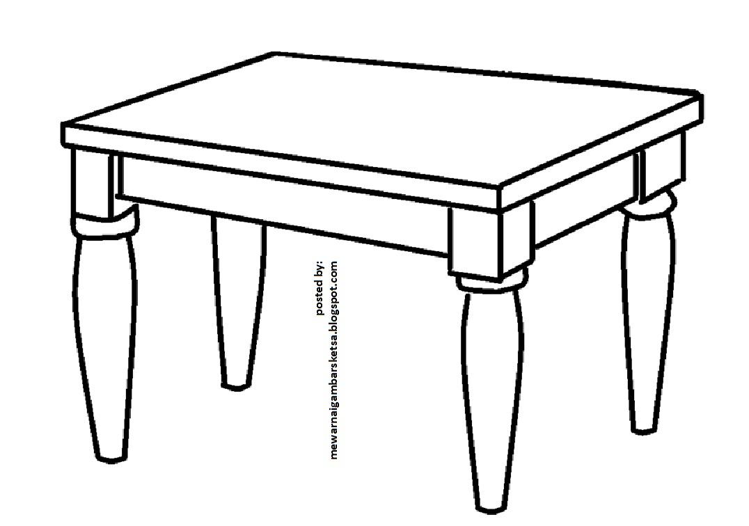 Mewarnai Gambar Meja Contoh Desain Gambar Furnitur Dan