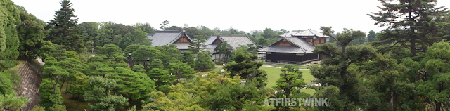 Nijo Castle (二条城)  Kyoto Japan honmaru palace panorama picture of view from donjon