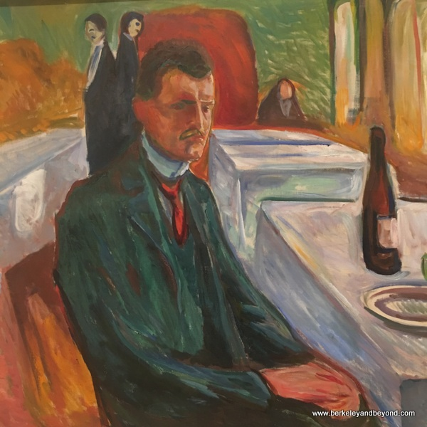 """Self-Portrait with a Bottle of Wine"" by Edvard Munch at SFMOMA in San Francisco"