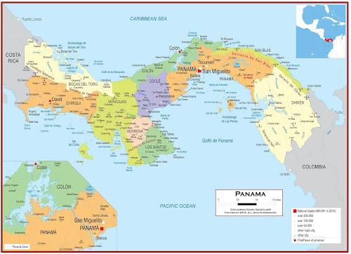 Mapa do Panamá