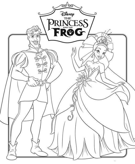 Tranh tô màu công chúa và chàng ếch 9