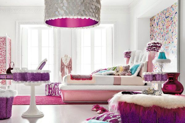 Pink Bedroom Ideas That Can Be Pretty And Peaceful Or: Greatinteriordesig: Beautiful Little Girls Bedroom With A