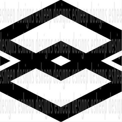 Interlocking Chevron design by eSheep Designs