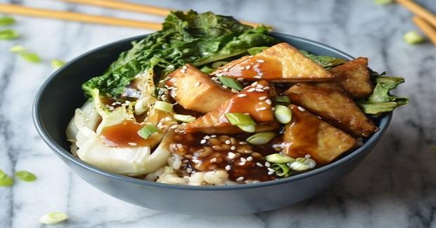 Crispy Baked Tofu Teriyaki Bowl Recipe