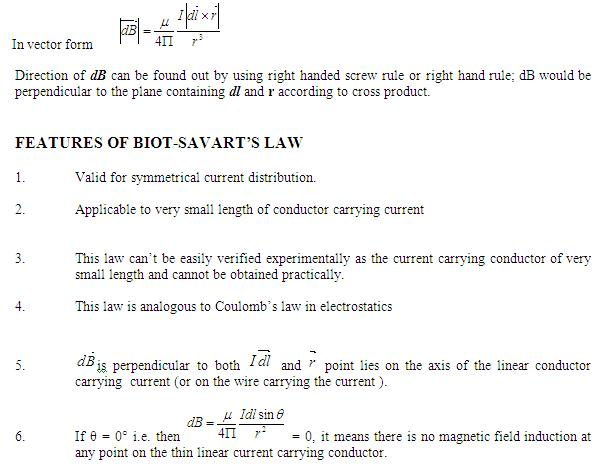 DMR'S PHYSICS NOTES: Biot-Savart's Law