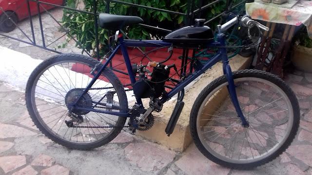 Θεσπρωτός έβαλε μηχανή στο ποδήλατό του!
