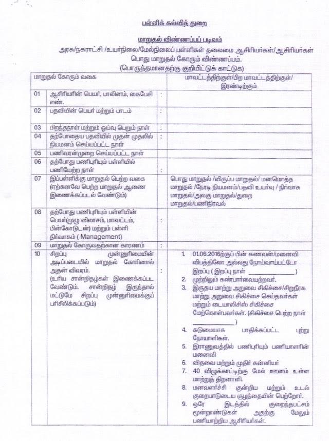 DSE : NEW OFFICIAL TRANSFER APPLICATION PDF COPY & JPG IMAGE