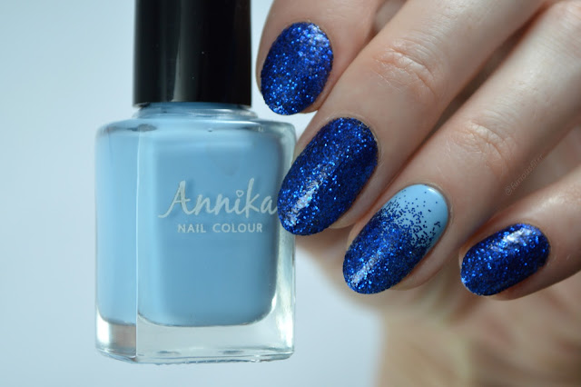 Loose glitter gradient blue sparkle furious filer
