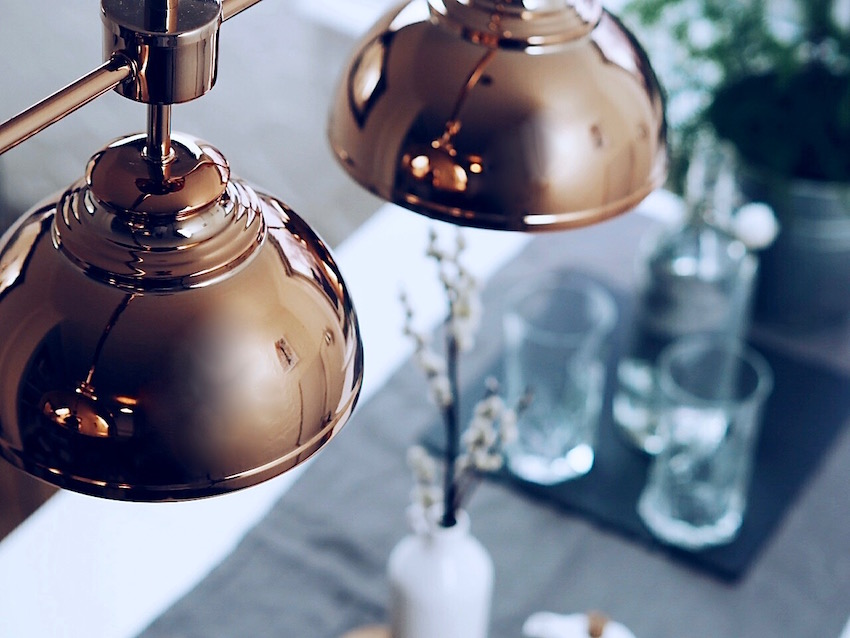 rose gold pendant lights