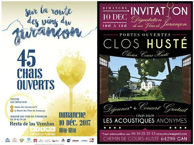 Route des Vins du Jurançon  2017 le Clos Husté