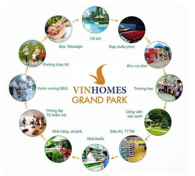 Tiện ích Vinhomes Grand Park Quận 9