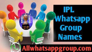 IPL Whatsapp Group Names