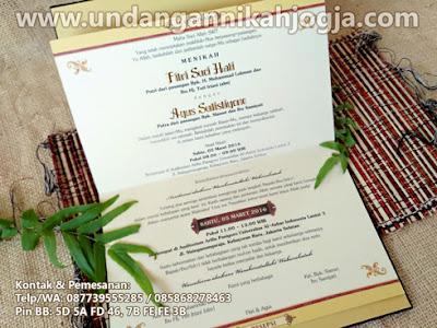 Undangan pernikahan hardcover exclusive beludru