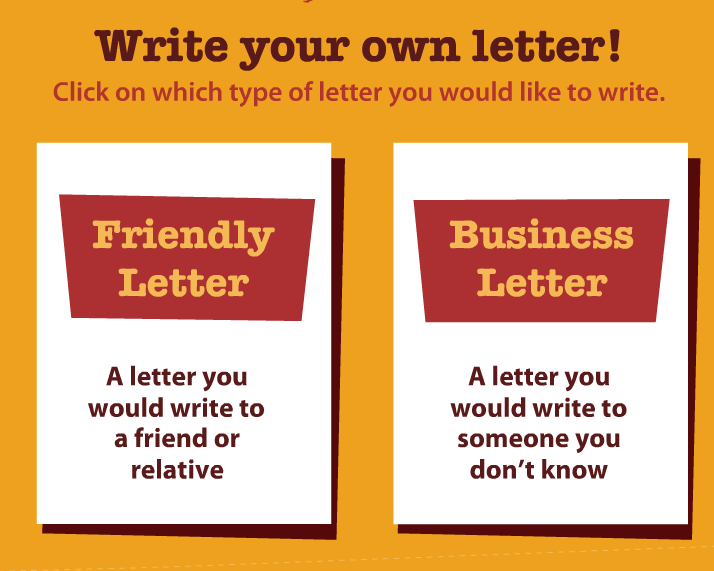 of the letter writing process when their letters are complete read ...