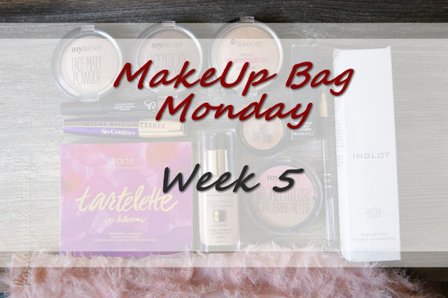 MakeUp Bag Monday - Week 5 - Tarte, MAC, Max Factor, Inglot, L'Oreal, My Secret, Golden Rose