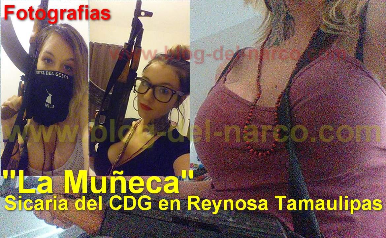 """Fotografías de Priscila Lorraine """"La Wera"""" o """"La Muñeca"""" Sicaria del CDG en Reynosa Tamaulipas"""