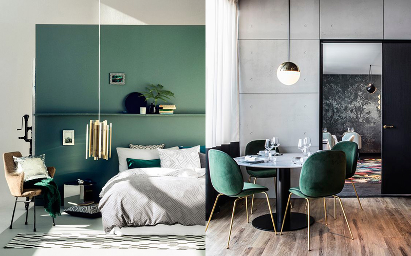 Falling For Green Interiors