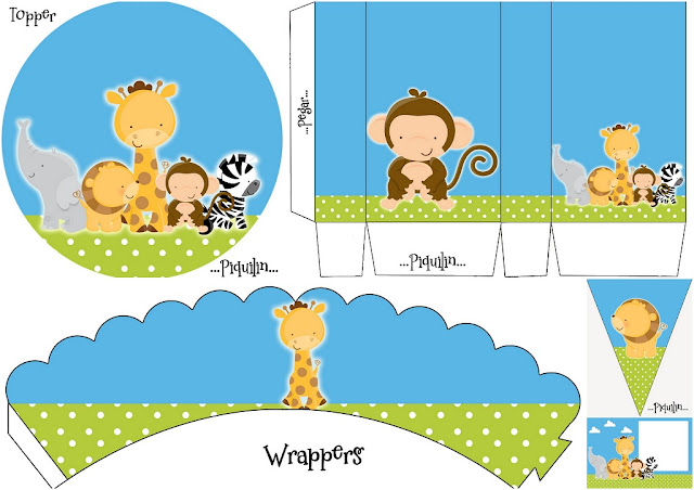 Lovely Jungle Babies: Free Printable Mini Kit.