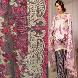 Sobia Nazir Embroidered Lawn eid Collection 2017.Sobia Nazir heavy embroidered suits with heavy embroidery net dupata.