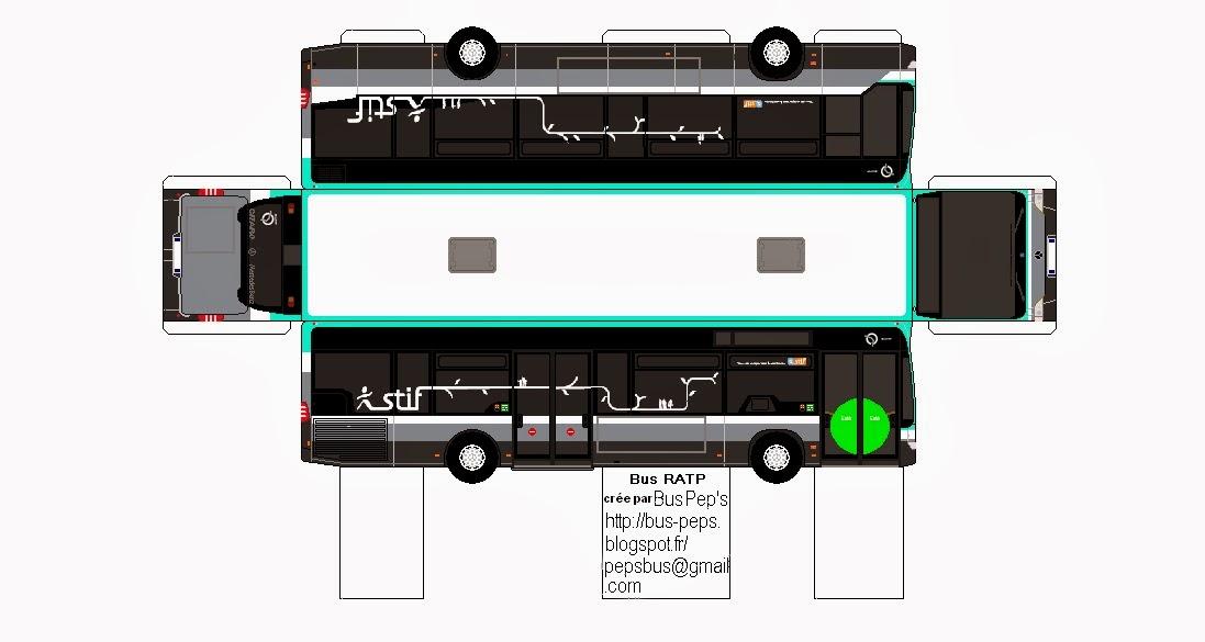 maquette papier: Bus RATP