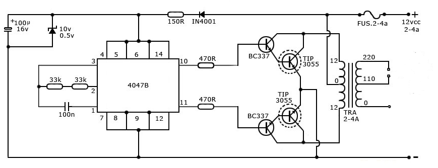 simple tesla coil diagram