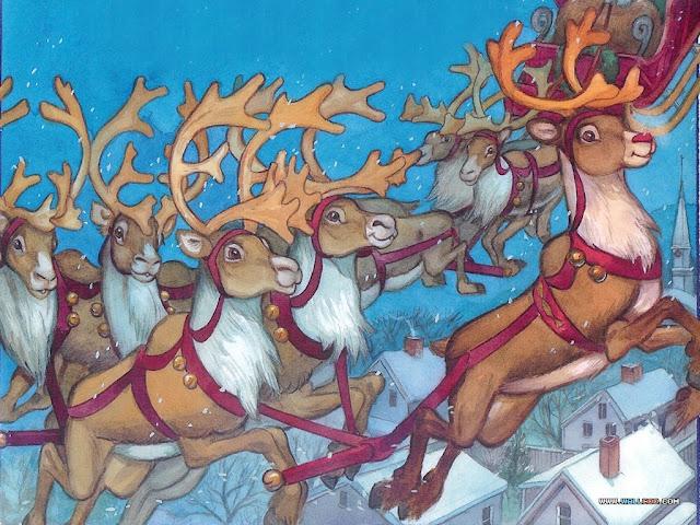 Resultado de imagen de rudolf y los renos de papa noel