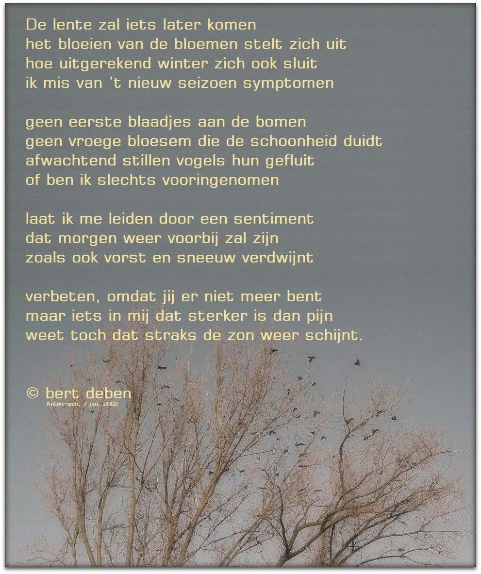 New leven in poëzie: De Lente zal iets later komen &WI31