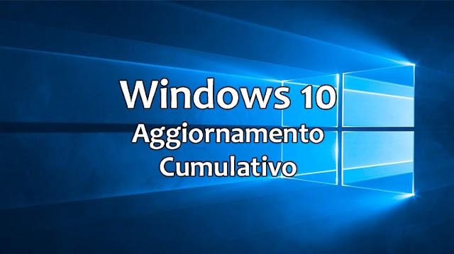 Windows 10 - Disponibile l'aggiornamento cumulativo di aprile 2019
