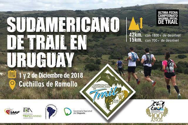 42k y 15k Sudamericano de Trail en Cuchillas de Ramallo (Uruguay, 01y02/dic/2018)