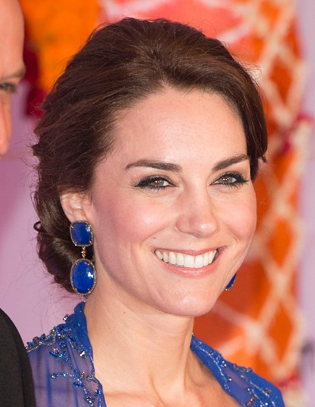 Prince William and Catherine, Duchess of Cambridge attended the Bollywood Inspired Charity Gala at the Taj Mahal Palace Hotel. Earrings by Amrapali Jewelery
