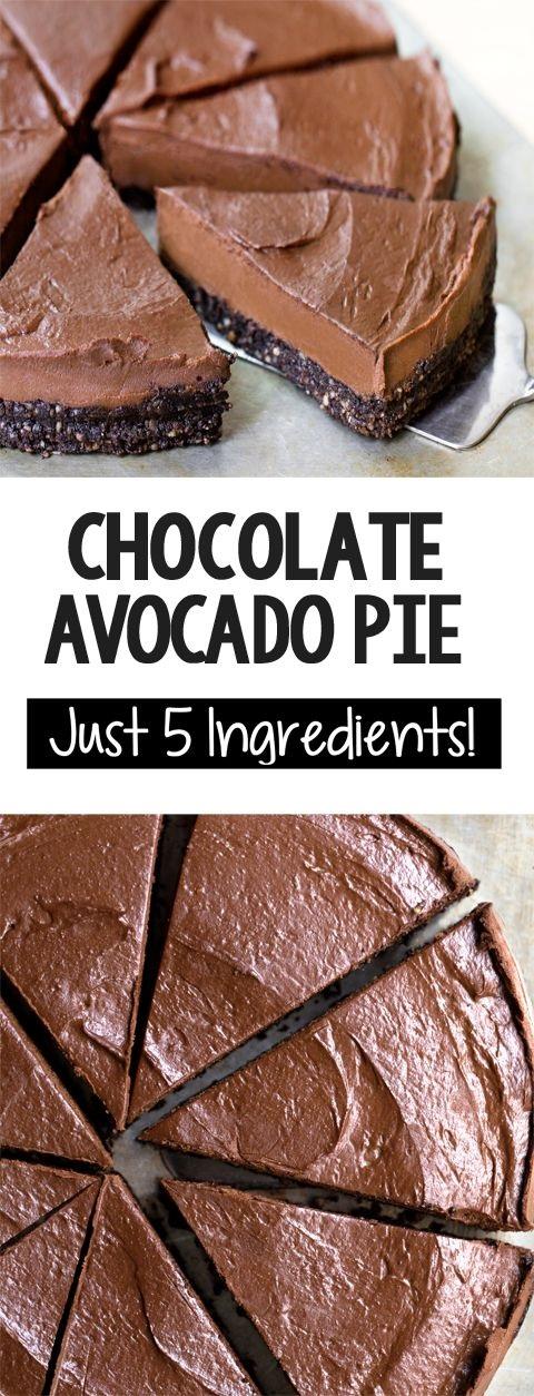 Chocolate Avocado Pie