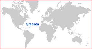 Gambar Peta letak Grenada