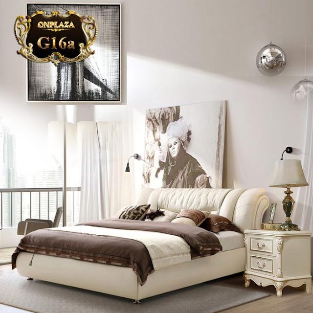 Giường ngủ bọc da có ngăn chứa đồ tiện nghi,sang trọng G16 ; Giá :14.676.000VNĐ