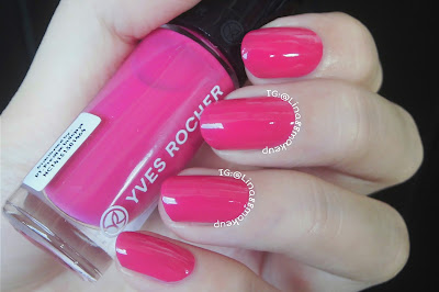 Swatch & Nail Art ft YVES ROCHER Botanical Color Nail Polish 24-Rose Dalhia