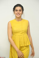 Taapsee Pannu looks mesmerizing in Yellow for her Telugu Movie Anando hma motion poster launch ~  Exclusive 047.JPG