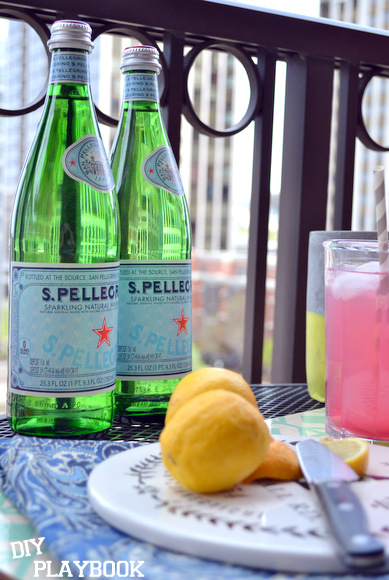 What outdoor summer meal is complete without a delicious beverage? I love my Pellegrino and citrus!